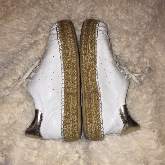 a407c1a883d Steven Pace White Gold Platform Espadrille Sneaker.  M 5a8e0ce02ae12f33550f4b61. Other Shoes ...
